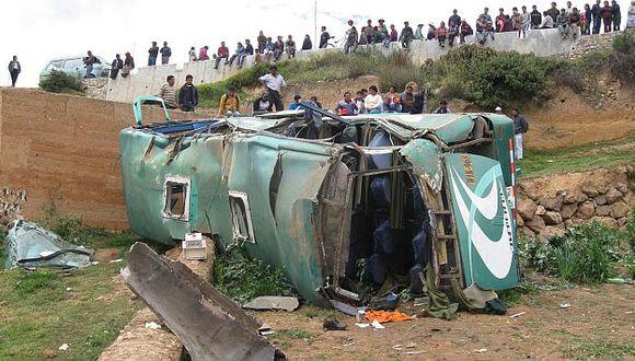 El vehículo era conducido por Wivel Celedonio Quispe Ñahui. . (Andina)