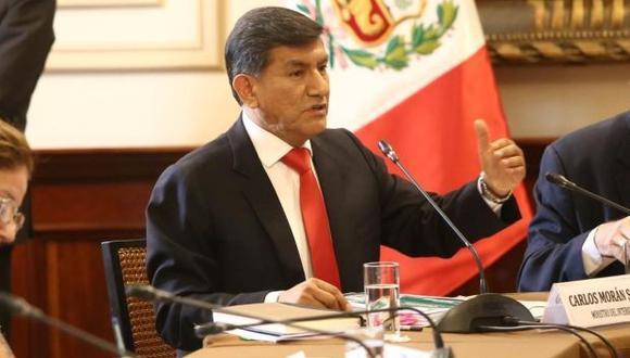 El ministro del Interior, Carlos Morán, defendió el accionar policial. (Foto: Mininter)