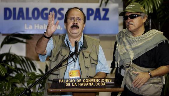 Andrés París, integrante de las FARC, ofreció declaraciones desde La Habana. (AP)