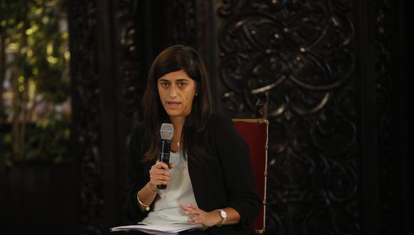 """María Antonieta Alva destacó la importancia de tener una relación """"constructiva"""" con el Parlamento (Foto: José Rojas / GEC)"""