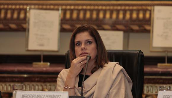 Mercedes Araoz renunció al cargo tras la disolución del Congreso. (Foto: GEC/ Diana Chávez)