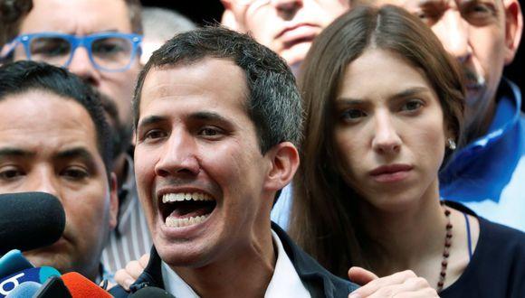 Guaidó  reiteró que su lucha es contra una dictadura y para rescatar los derechos fundamentales y la libertad del pueblo venezolano. (Foto: Reuters)