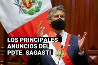 Francisco Sagasti: Los principales anuncios del presidente en entrevista con los programas dominicales