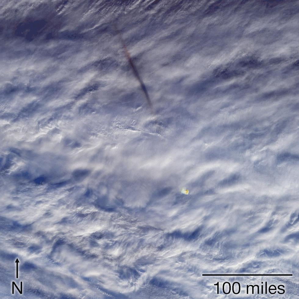 NASA difunde fotos de un gran meteorito que nadie vio. (NASA)