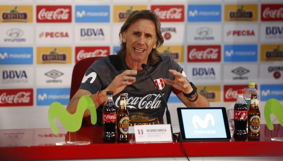 Ricardo Gareca sostuvo esta mañana una conferencia de prensa. (Piko Tamashiro/Perú21)