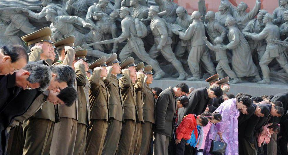 Corea del Norte celebró natalicio de su fundador, Kim Il-Sung, y parecía haber dejado de lado sus amenazas de guerra contra Estados Unidos y Corea del Sur. (AP)