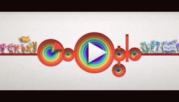 """El doodle ha sido diseñado por Nate Swinehart, quien señaló que """"el Desfile del Orgullo es un símbolo de celebración y liberación para toda la comunidad LGBT +"""". (Foto: Google)"""