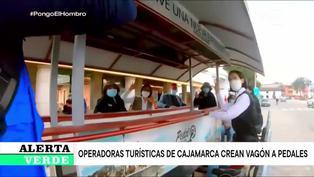 Cajamarca: Operadoras turísticas crean vagón a pedales