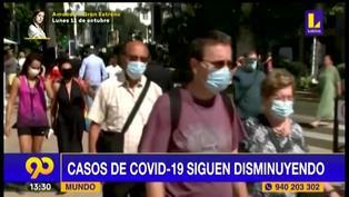 Reportan descenso de casos y fallecidos por Covid-19 por tercera semana consecutiva según la OMS