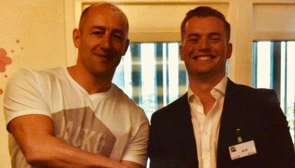 Steve Gallant (izquierda) luchó contra Usman Khan en el Puente de Londres, después de que Khan mató a Jack Merritt (derecha). (Foto: PA / The Guardian)