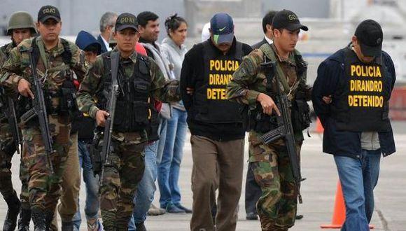 Cuatro policías vinculados al narcotráfico fueron detenidos. (RPP)