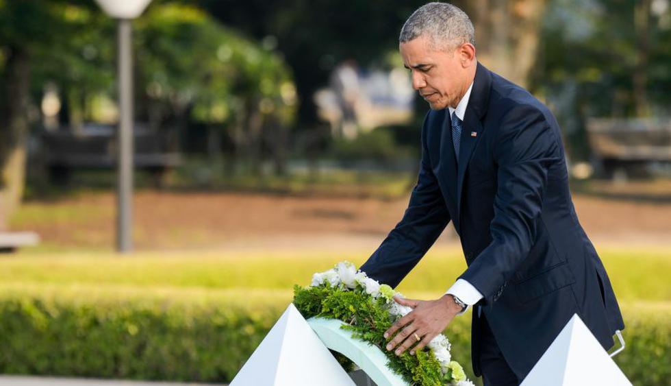Barack Obama estuvo acompañado del primer ministro nipón Shinzo Abe. (Bloomberg)
