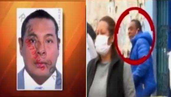 La Policía Nacional del Perú (PNP) identificó a Ántero Santos Flores Moscoso (44) como el sujeto que tosió delante de Candy Quispe, reportera de ATV. (Foto captura: ATV)