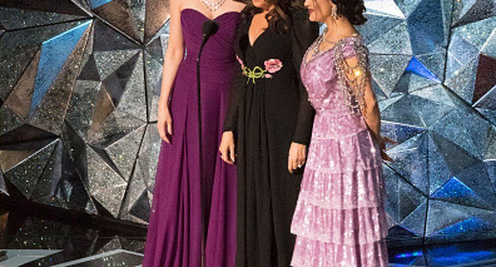 Salma Hayek, Ashley Judd y Annabella Sciorra y su mensaje contra el acoso sexual. (Getty)