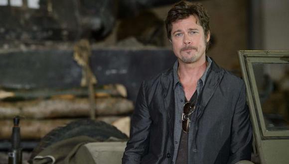Pitt actúa y produce el filme Fury. (AFP)