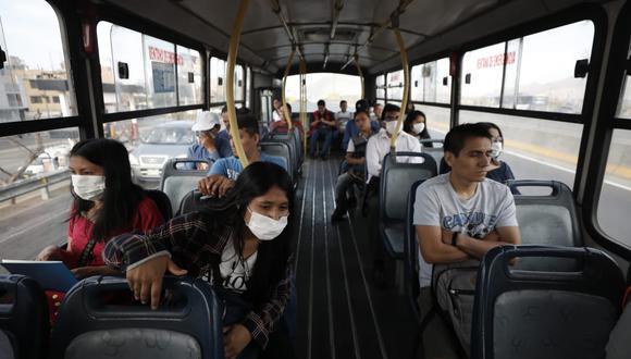 El transporte público deberá cumplir con aforos establecidos por el Gobierno en el contexto de la pandemia del COVID-19. (GEC)