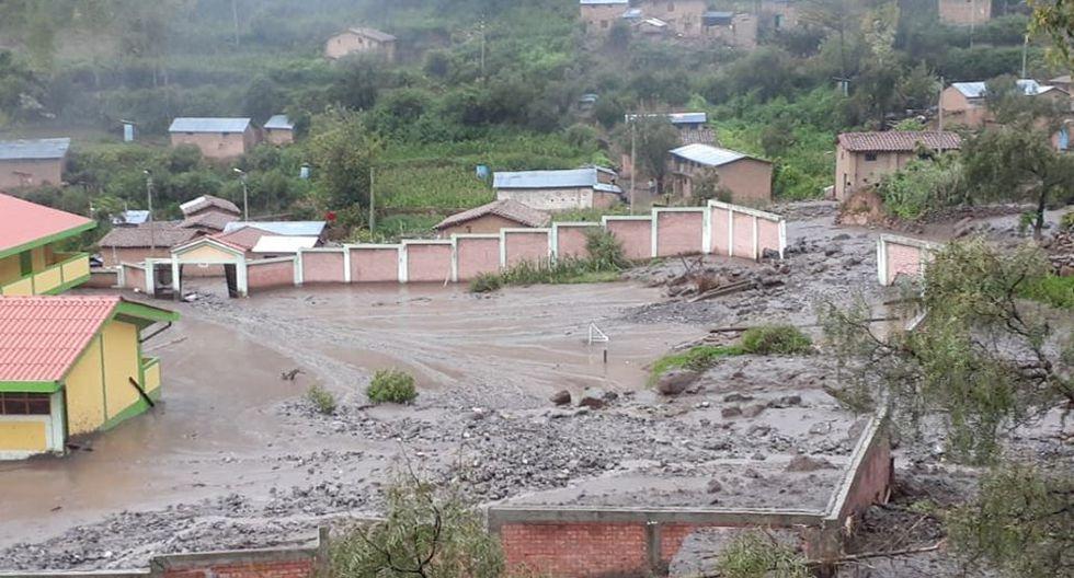 Institución Educativa en el centro poblado de Cocas quedó inhabitable tras caída de huaico.