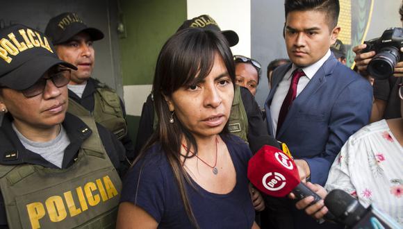 Giuliana Loza pidió que se investigue su caso de acuerdo al debido proceso a fin de ser esclarecido. (Foto: GEC)