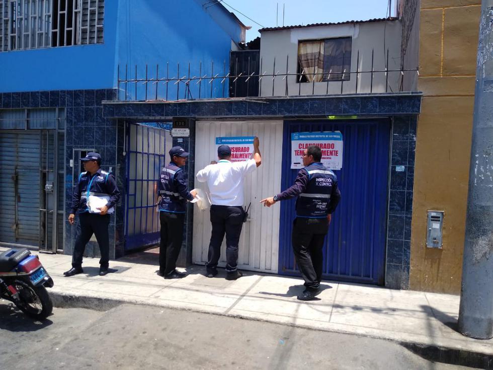 La Municipalidad de San Miguel clausuró este sábado tres locales de venta de gas doméstico por no tener licencia de funcionamiento. (Foto: Municipalidad de San Miguel)
