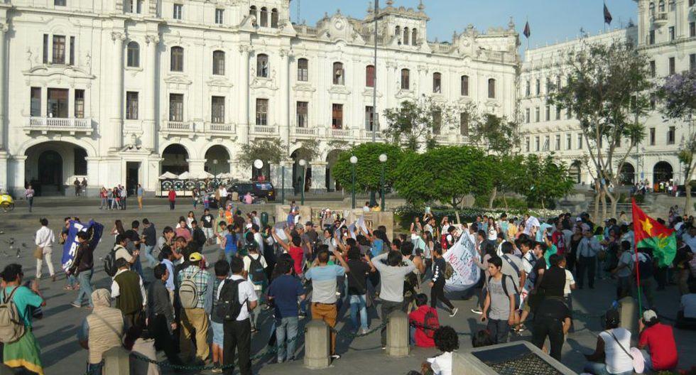 Régimen laboral juvenil: Esta es la segunda marcha en contra del nuevo régimen laboral juvenil, más conocido como Ley Pulpín. (Chinn De La Cruz/Perú21)