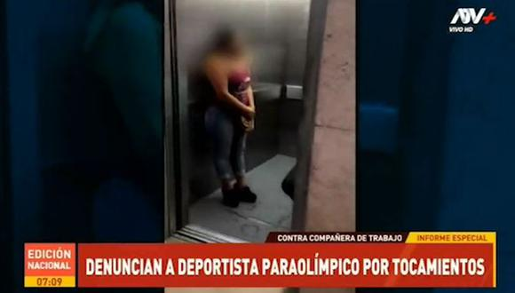 Agente de seguridad denunció al operador de un ascensor del nosocomio por tocamientos indebidos y acoso. (Foto: Captura ATV Noticias)