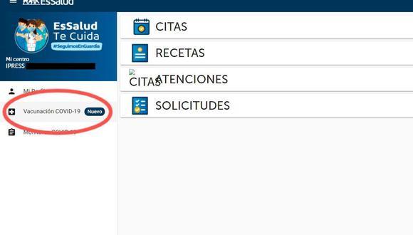 La plataforma de EsSalud solo es para actualización de los datos de los asegurados. (EsSalud te Cuida)