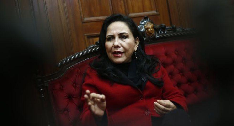 La legisladora de APP criticó la actitud de Yeni Vilcatoma en el Parlamento.