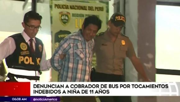Miguel Ángel Saenz Toribio es cobrador de la empresa Etrancisa. (Captura: América Noticias)