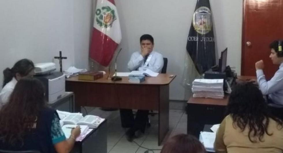 Audiencia en el Segundo Juzgado de Investigación Preparatoria de Castilla, en la región Piura.