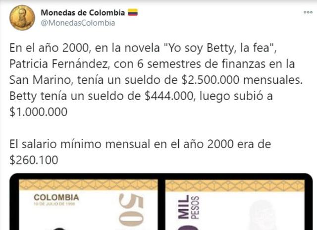 """La diferencia entre el salario de """"la fea"""" y """"la peliteñida"""" que ha causado polémica entre los fans de """"Yo soy Betty, la fea"""" (Foto: Twitter)"""