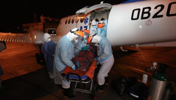 Loreto: Siete médicos infectados de COVID-19 llegaron a Lima para recibir atención especializada en UCI. (Foto: Andina)