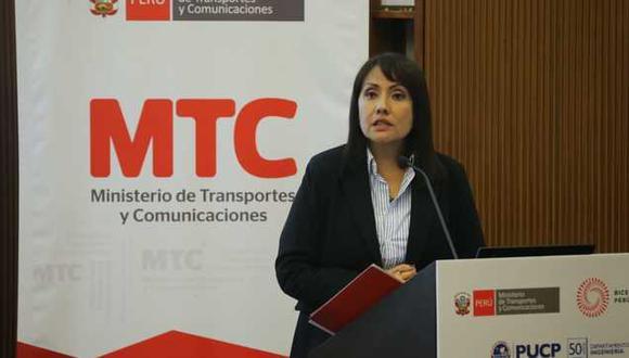 María Jara, ministra de Transportes y Comunicaciones. (Foto: Difusión)