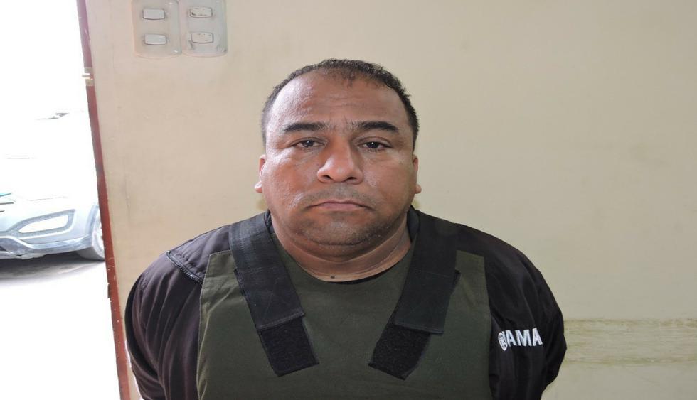 Yuilio Arana Pazos (47) es acusado por la policía de extorcionar a un empresario para devolverle su camioneta robada. (Foto: Difusión PNP)