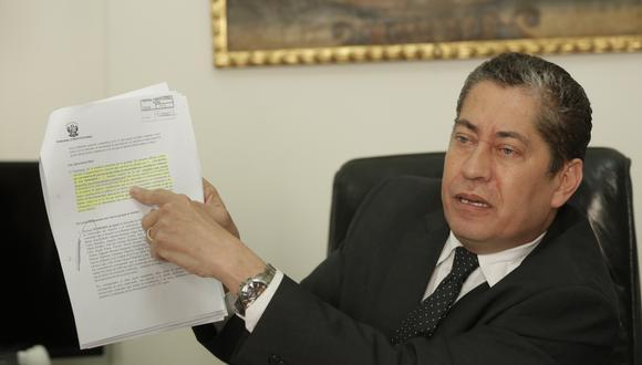 Espinosa-Saldaña indicó que, hasta la fecha, no han recibido ninguna acción competencial sobre la cuestión  de confianza. (Foto: Piko Tamashiro/GEC)