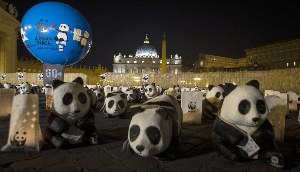 Ositos símbolo de la WWF inundaron el Vaticano. (EFE)