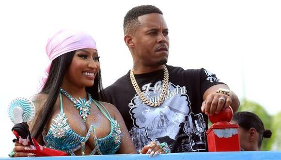 La rapera estadounidense de origen trinitense, Nicki Minaj, y su esposo Kenneth Petty. (Foto: EFE)