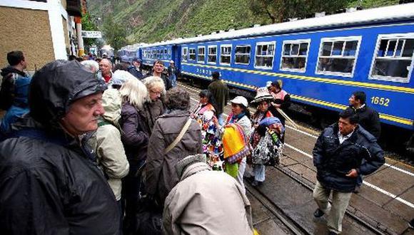 Suspenden servicio de trenes hacia Machu Picchu. (Andina)