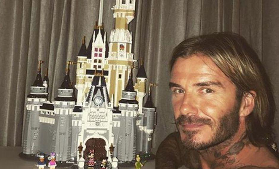 ¡David Beckham finalmente terminó de construirle el castillo de LEGO a su hija! (Instagram)