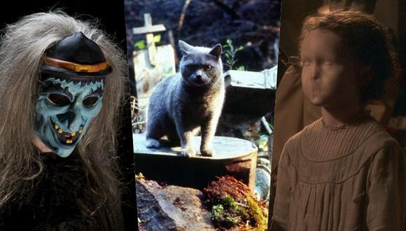 """De izquierda a derecha:  escenas de Pet Sematary (1989) y """"La maldición de Bly Manor"""". Foto: Netflix y Paramount Pictures."""