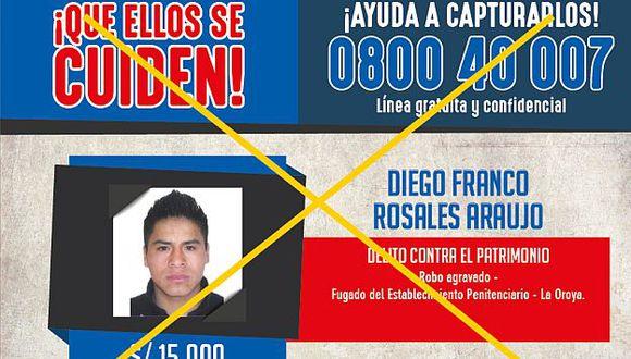 Los más buscados: Policía capturó a delincuente que fugó del penal de La Oroya. (Mininter)