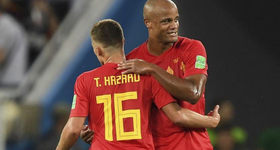 Kompany espera que Bélgica supere a Brasil y acceda a las semifinales de la Copa del Mundo 2018. (AFP)