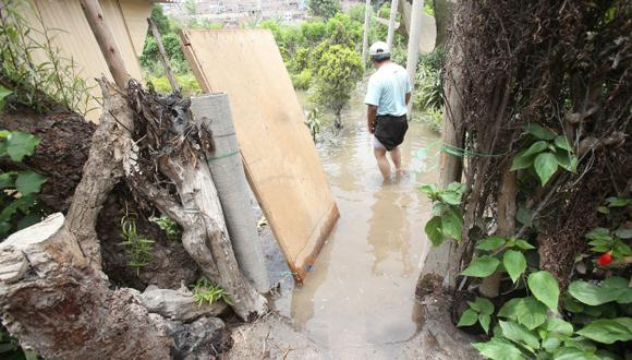 MAL TIEMPO. Los aguaceros vienen causando estragos en diversos pueblos de la selva y la sierra. (Martín Pauca)