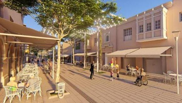 Así se verá el boulevard en la calle de las pizzas. (Foto: Municipalidad de Miraflores)