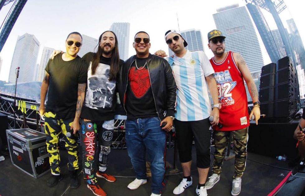 Ultra Music Festival: Mira a Daddy Yankee cantar en evento de música electrónica. (SteveAoki/Instagram)