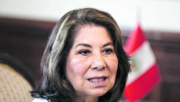 """""""El fujimorismo nunca ha tenido las cosas fáciles y está entrenado para asumir responsabilidades y retos"""", expresó Martha Chávez (Ángela Ponce/GEC)."""