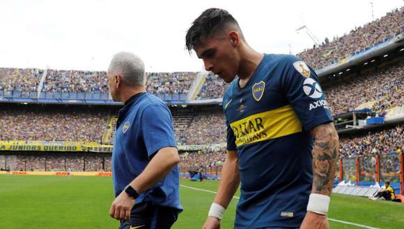 Cristian Pavón salió de la cancha a los 20 minutos del encuentro (Foto: Reuters).