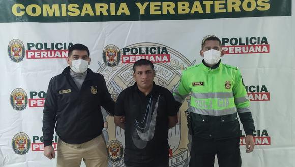 El detenido será investigado por el presunto delito de feminicidio en el grado de tentativa y también por el delito de resistencia a la autoridad. (Foto: PNP)