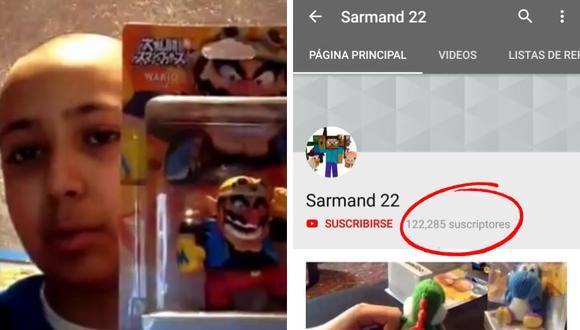 Este niño youtuber amante de los videojuegos se ha convertido en una sensación en cuestión de pocas horas. (Foto: Sarmand 22 en YouTube)