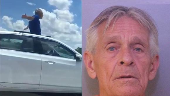 Anciano es arrestado por manejar de manera imprudente. (Captura)