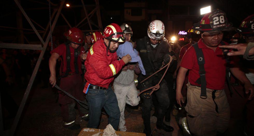 Joven que intentó lanzarse desde una torre de alta tensión fue rescatado. (Kelvin García/GEC)
